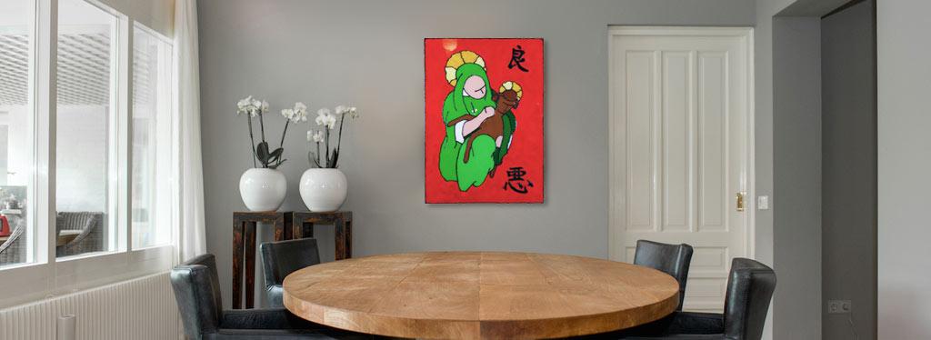 Vlekks kunst en decoratie - Kleur gemengde kamer ...
